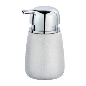 Keramický dávkovač na mýdlo ve stříbrné barvě Wenko Glimma