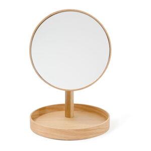Kosmetické zrcadlo s rámem z dubového dřeva Wireworks Cosmos,ø25cm