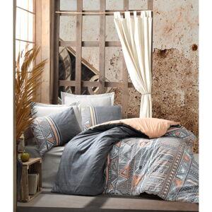 Bavlněné povlečení s prostěradlem Cotton Box Adiel, 200 x 220 cm