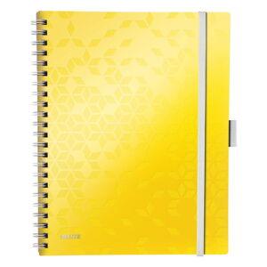 Žlutý mobilní linkovaný blok Leitz, 80 stran
