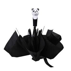 Černý skládací deštník Esschert Design Panda