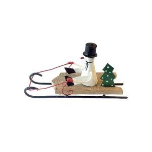 Vánoční dekorace G-Bork Snowman on Sled