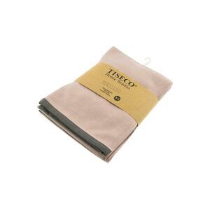 Sada 3 béžových bavlněných utěrek Tiseco Home Studio, 50 x 70 cm