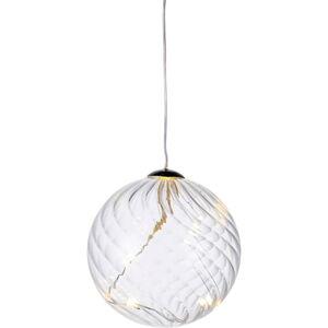 Světelná LED dekorace Sirius Wave Ball, Ø 8 cm