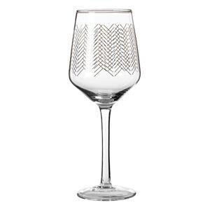 Sada 4 skleniček na víno Premier Housewares Gold Waves, 4,3 dl