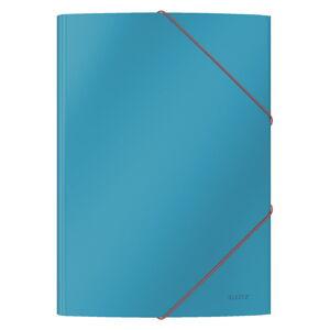 Sada 10 modrých kancelářských desek s hebkým povrchem Leitz Cosy, A4