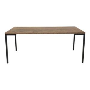 Černý konferenční stolek s tmavou deskou z dubového dřeva House Nordic Lugano