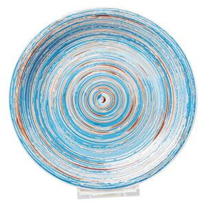 Modrý kameninový talíř Kare Design Swirl, ⌀ 27 cm