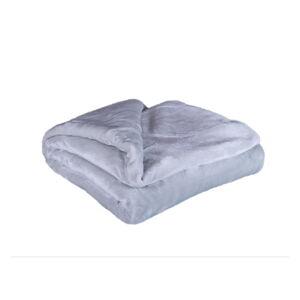 Světle šedá mikroplyšová deka My House Amber,200x220cm