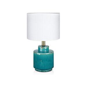 Modro-bílá stolní lampa Markslöjd Cous