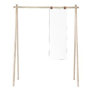 Věšák z borovicového dřeva se zrcadlem Karup Design Hongi Natural