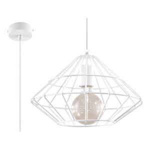 Bílé závěsné svítidlo Nice Lamps Editta