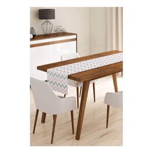 Běhoun na stůl z mikrovlákna Minimalist Cushion Covers Pinky Grey Stripes, 45x145cm