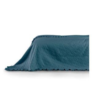 Modrý přehoz přes postel AmeliaHome Tilia Marine, 220x240cm