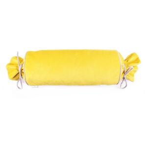 Žlutý povlak na polštář WeLoveBeds Sunny Candy, ⌀ 20 x 58 cm