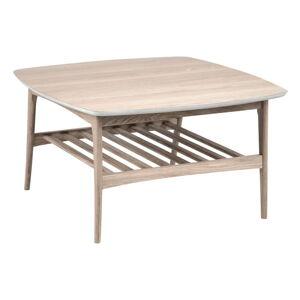 Konferenční stolek s podnožím z dubového dřeva Actona Woodstock,80x80cm