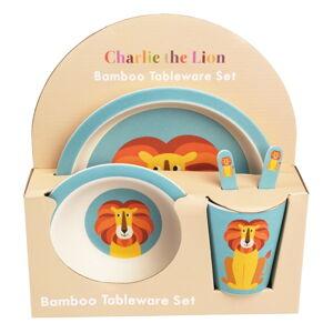 Sada dětského bambusového nádobí Rex London Charlie the Lion
