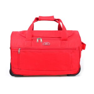 Červená cestovní taška na kolečkách LPB Morgane, 43l