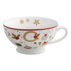 Porcelánový šálek na čaj s vánočním motivem Brandani Alleluia New Bone, ⌀ 14 cm