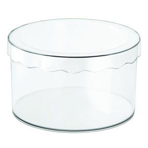 Průhledný úložný box iDesign Clarity, ⌀25,5cm