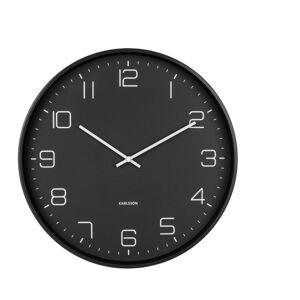 Černé nástěnné hodiny Karlsson Lofty,ø40cm