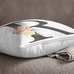 Povlak na polštář Minimalist Cushion Covers Floral Alphabet R, 45 x 45 cm