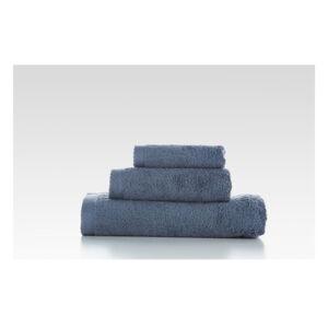 Sada 3 modrošedých bavlněných ručníků El Delfin Lisa Coral