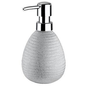Stříbrný keramický dávkovač mýdla Wenko Polaris Juwel