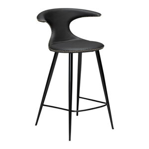 Černá kožená barová židle DAN–FORM Denmark Flair, výška 90 cm