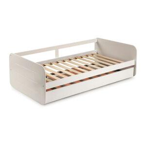 Bílá dětská postel s výsuvným lůžkem Marckeric Redona,90x190cm