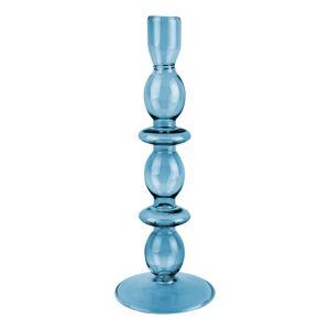 Modrý skleněný svícen PT LIVING Glass Art