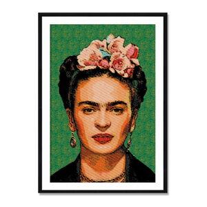 Nástěnný obraz ze sambového dřeva Madre Selva Frida Draw, 40 x 60 cm