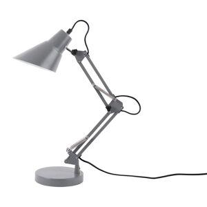 Šedá železná stolní lampa Leitmotiv Fit