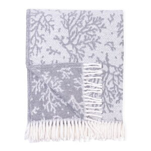 Šedý pléd s podílem bavlny Euromant Coral, 140 x 180 cm