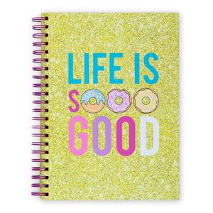 Žlutý zápisník v kroužkové vazbě Tri-Coastal Design Life Is So Good, 96 stran