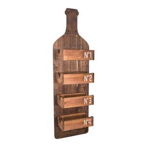 Nástěnná dřevěná polička Antic Line Bottle
