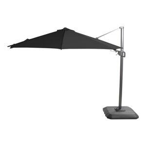 Černý slunečník Hartman Deluxe, ø 350 cm