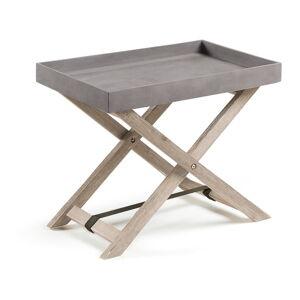 Šedý skládací stolek z akáciového dřeva La Forma Stahl