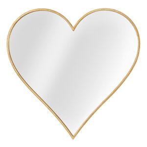 Nástěnné zrcadlo v rámu ve zlaté barvě Mauro Ferretti Glam Heart