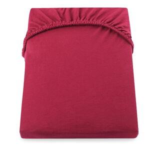 Červené prostěradlo DecoKing Amber Collection, 220/240 x 200 cm