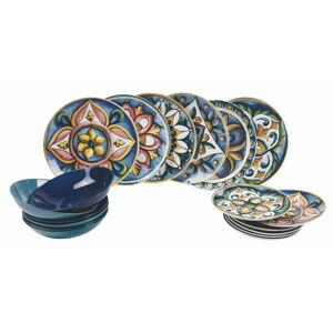 18dílná sada porcelánových talířů Villa d'Este Le Maioliche