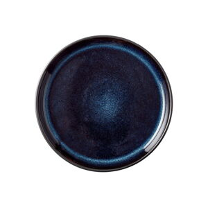 Tmavě modrý kameninový talíř Bitz Mensa,ø17cm
