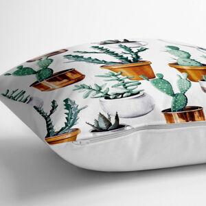 Povlak na polštář s příměsí bavlny Minimalist Cushion Covers Cactus in Pot,70x70cm
