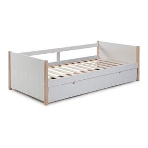 Bílá dětská postel s výsuvným lůžkem Marckeric Kiara,90x190cm