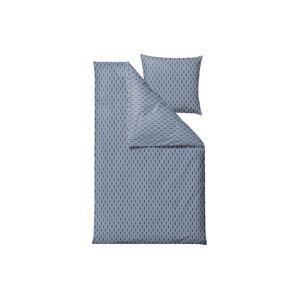 Modré povlečení na jednolůžko z ranforce bavlny Södahl Graphic,140x200cm