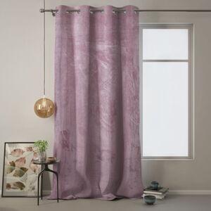 Růžový závěs AmeliaHome Velvet, 140 x 270 cm