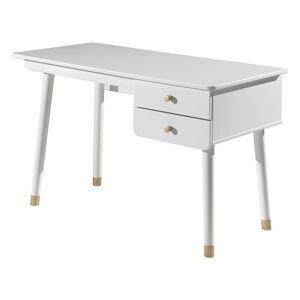 Bílý dětský pracovní stůl z borovicového dřeva Vipack Billy