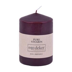 Vínově červená svíčka Eco candles by Ego dekor Top, doba hoření 25h