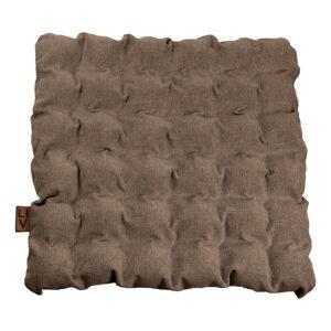 Hnědý sedací polštářek s masážními míčky Linda Vrňáková Bubbles, 55x55cm