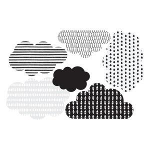 Sada 6 nástěnných samolepe Dekornik Scandi clouds